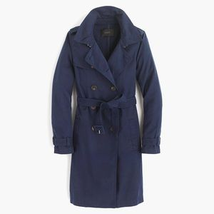 j crew washed cotton trench coat